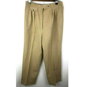 Vtg Pendleton Pants Tan Wool 16 Fits Modern 4 6 29